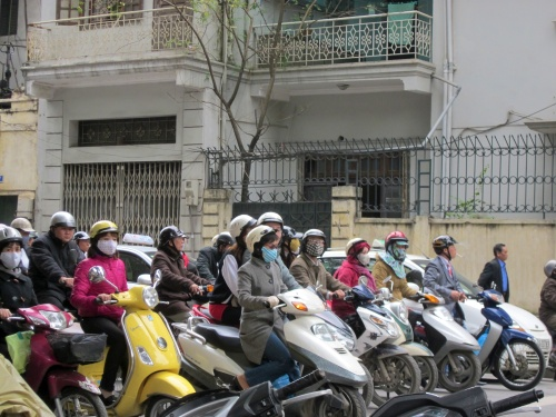 Hanoi, Vietnam motorcycles